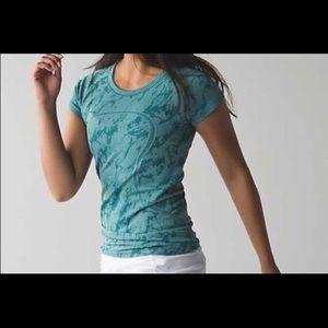 lululemon athletica Tops - Lululemon Swiftly Tech T-shirt Teal with design